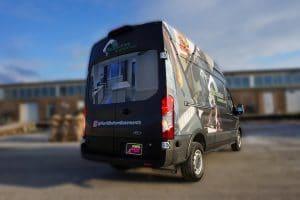 Ford Transit 250 High Roof - Full Van Wrap - VinylWrapToronto.com - RockBottom - After Side back - Custom Vehicle Wrap