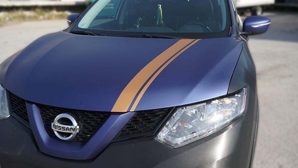 DIY Stripe Kits vs Professionally Installed - Stripes - VinylWrapToronto.com - Best Vehicle Wrap in Toronto - Front Closeup