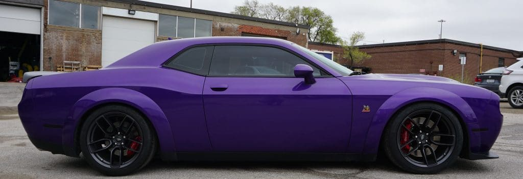Dodge Challenger – Colour Change Wrap and Top 5 Benefits - Vinyl Wrap Toronto - Before & After