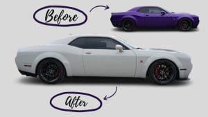 Dodge Challenger – Colour Change Wrap and Top 5 Benefits - Vinyl Wrap Toronto - Before - Car wrap Near Me