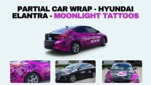 Partial Car Wrap - Hyundai Elantra – Moonlight Tattoos – Vinyl Wrap Toronto