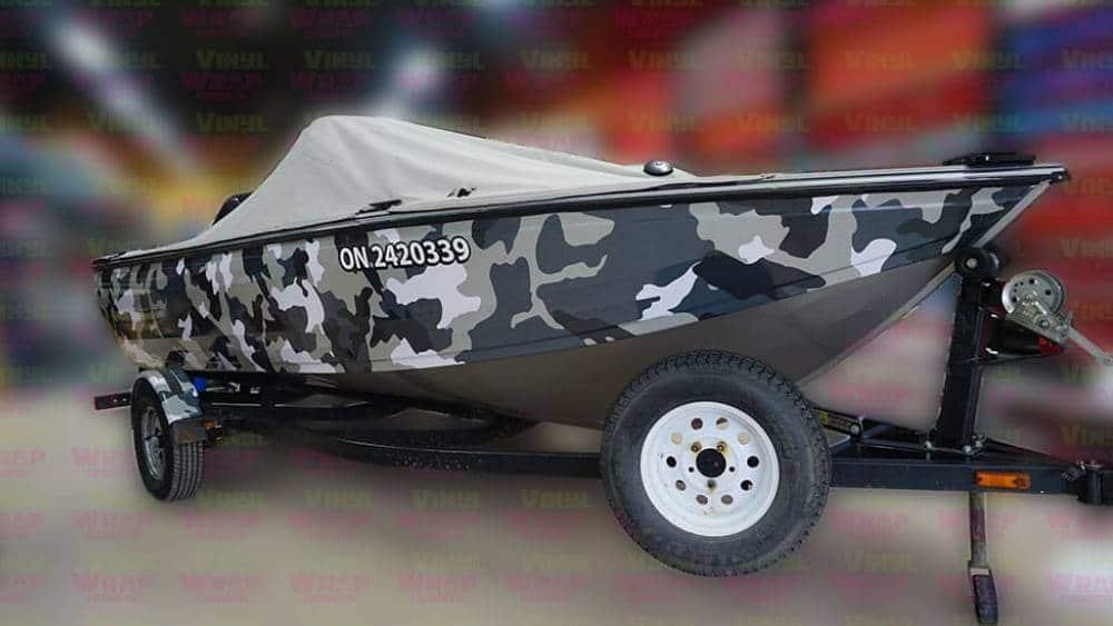 16-Foot-2007-Crestliner-Boat-Full-Boat-Wrap-Custom-Camouflage-Vinyl-Boat-Wrap-VinylWrapToronto.com-Lettering-Decals-Best-in-GTA-Side-Front - 1