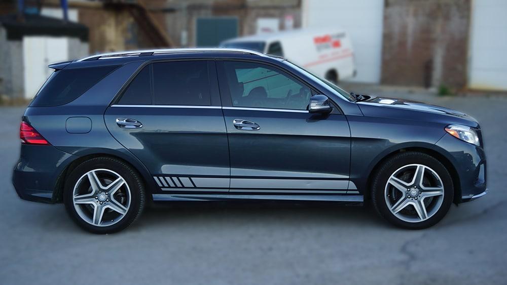 Mercedes GLE 350D - VinylWrapToronto.com - Racing Stripes - Vehicle Wrap - Decals - Car Wrap in Toronto - Car Branding