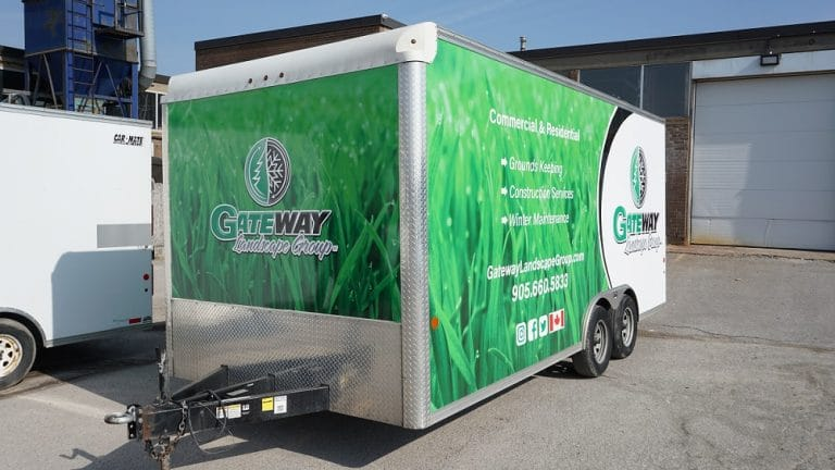 Trailer Wrap - Gateway Landscaping, Full Wrap - Vinyl Wrap Toronto