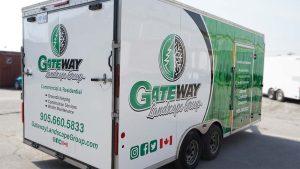 Gateway - Trailer Wrap - Back Passenger Side Angle