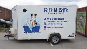 Custom Decals - Park n Bark - Trailer - Driver Side