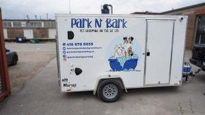 Custom Decals - Park n Bark - Trailer - Passenger Side