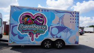 Sweetheart Ice Cream and Treats - Trailer - Driver Side - Decals