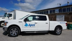 Transform your pickup truck with decals - Apex Construction - Passenger Side - After
