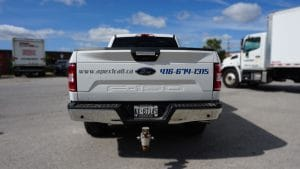 Transform your pickup truck with decals - Apex Construction - Tailgate - Vinyl Wrap Toronto
