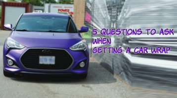 5 Questions to ask when getting a car wrap - VinylWrapToronto.com - Best Car wrap shop in GTA - Avery Dennison - 3M