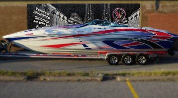 Baja - Special - 38ft - Full boat wrap in Mississauga - side - Personal - vehicle Wrap - Vinyl Wrap Toronto