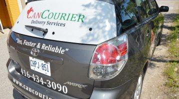 Car Decal | Can Courier- Back View Vinyl Wrap Toronto - Vehicle Wrap In Toronto - Print Shop