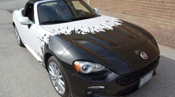 Car Wrap Toronto - Avery Dennison Supreme Wrapping Film, 3M Fiat Car Wrap - Fiat Spider 124 Partial Wrap _ Vinyl Wrap Toronto