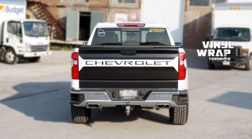 Chevrolet Silverado Z71 - Truck Decals - VinylWrapToronto.com - Vinyl Wrap Toronto - Vehicle Wrap - After - Back