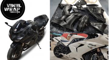 Vinyl Wrap Toronto Kawasaki Ninja ZX-10R 2019 Avery Dennison White Motorcycle Full Vinyl Wrap Toronto Collage - Bike Wrap