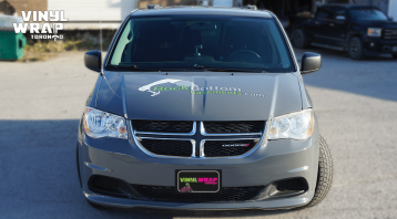 Dodge Caravan - Custom Full Van Wrap - VinylWrapToronto.com - Avery Dennison - Lettering & Decals - Best Car Wrap in Toronto - Front