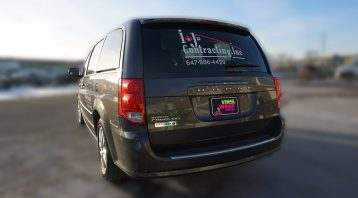 Dodge Caravan - Van Decals & Lettering - VinylWrapToronto.com - Avery Dennison - Best Vehicle Wrap in Toronto - Best Car Wrap Shop - Side Back