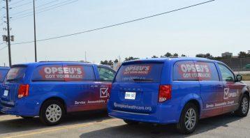 Vinyl Wrap Toronto Dodge Caravan 2018 Avery Dennison White Van Full Opseu Rear