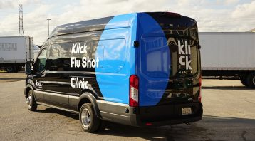 Ford Transit Passenger 250 - VinylWrapToronto.com - Vehicle Decals - After - Back Side
