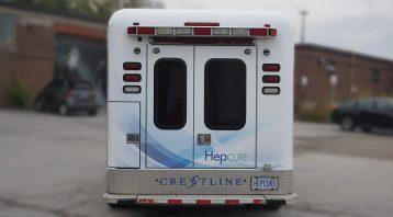 HepCURE - Chevrolet Ambulance - VinylWrapToronto.com - Custom Full Vinyl Wrap - Avery Dennison - Back - Vinyl Wrap Cost