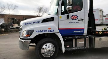 Hino 258 - 2019 - decals - CAA - Side - after - Vinyl Wrap Toronto - Vehicle Wrap in Etobicoke - Truck Wrap