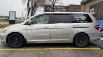 Honda Odyssey Minivan Van Decals - Commercial - Promotional - Avery Dennison - VinylWrapToronto.com - After - Side 2