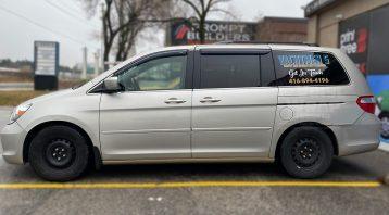 Honda Odyssey Minivan Van Decals - Commercial - Promotional - Avery Dennison - VinylWrapToronto.com - After - Side 2 - Avery and 3m vinyl decals