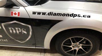 Vinyl Wrap Toronto Chrysler 300 2016 Avery Dennison Silver Car Decal DPS After Side - Vinyl Decals