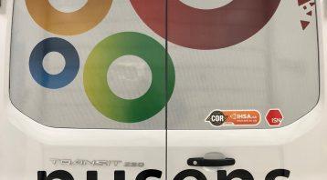 Vinyl Wrap Toronto Ford Transit 2019 Removal/Decals White Van Nusens Rear Window