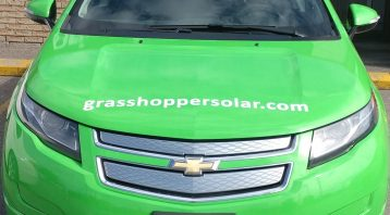 Vinyl Wrap Toronto Chevrolet Volt 2017 Avery Dennison Green Car Partial Grasshopper Front