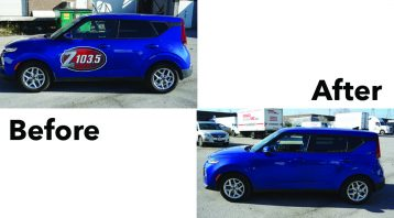 Kia Soul - 2019 Decals Unwrap - Decal Removal - VinylWrapToronto.com - Vehicle Wrap In Toronto - decals for cars