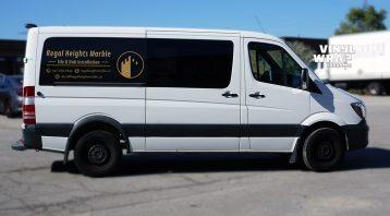 Mercedes Sprinter Bluetec 2015 - VinylWrapToronto.com - Vehicle Decals - Lettering - Vinyl Wrap Toronto - Promotional - Regal Marble - Side - Custom van decals near me