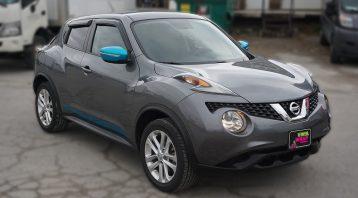 Nissan Juke 2016 - VinylWrapToronto.com - Vehicle Decals & Lettering - Best Vehicle Wrap in Toronto - 3M - Gloss Atomic Teal - Front Side 2