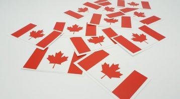 The Canadian Flag Sticker - Vinyl Decals - VinylWrapToronto.com Free Stickers - Custom vinyl stickers cost