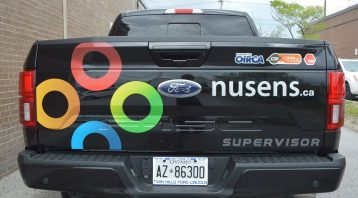 Toronto Car Wrap - Nusens Lettering & Decal Back