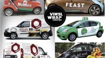 Vinyl wrap toronto Mobile Business Wraps Food Barber Hairdresser Flowers Wraps Coffee - Mobile Advertising - Delivery Vehicles