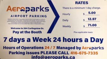 Vinyl Wrap Toronto 2020 Avery Dennison White Equipment Decal Aeropark Booth 01 - Parking Signs