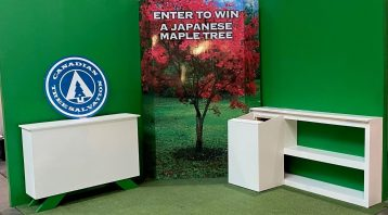 Vinyl Wrap Toronto 2020 Avery Dennison White Signs Full Canadian Tree Salvation Home Show - Trade Show Signs