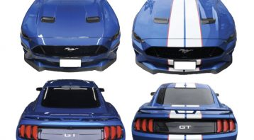 VinylWrapToronto Ford Mustang GT White Stripes Decals Avery Dennison Collage