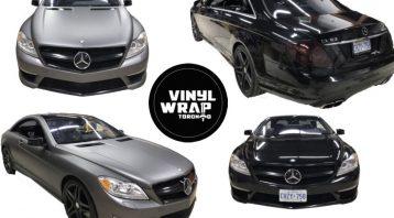 Vinyl Wrap Toronto Merc C63 AMG Metalic Charcoal Avery Dennison Collage - Full Car Wrap