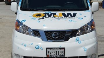 Vinyl Wrap Toronto Nissan Compact Cargo 2019 Avery Dennison White Van Partial Metro Jet Wash Front