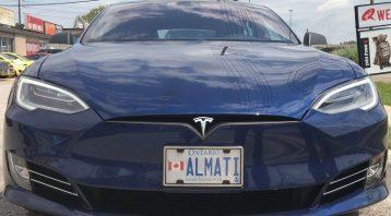 VinylWrapToronto-Tesla-Brushed-Black-Model-S-Before-Decals-Front
