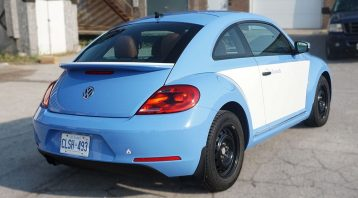 Volkswagen Beetle - Full Wrap - Personal - Disney - Cinderella Theme - Avery Dennison - Vinyl Wrap Toronto - After - Back Side