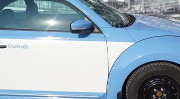 Volkswagen Beetle - Full Wrap - Personal - Disney - Cinderella Theme - Avery Dennison - Vinyl Wrap Toronto - After - Closeup - Custom vehicle wrap in GTA